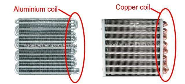 air conditioner aluminium coil vs copper coil