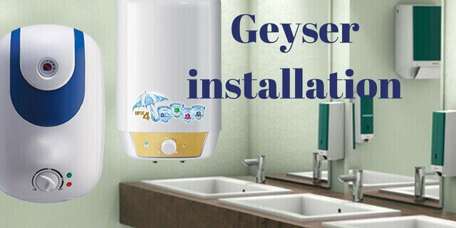 geyser installation and fitting