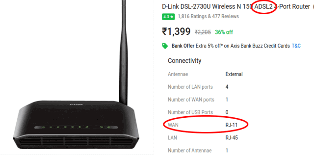 Router for BSNL broadband