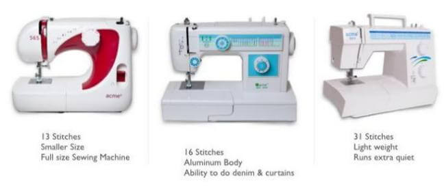 Types Of Sewing Machines Mechanical Electronic Computerized Simple Types Of Sewing Machine Feet
