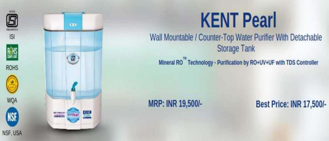 e678fd94d85 Kent Pearl Review. Try the Water Purifier selector