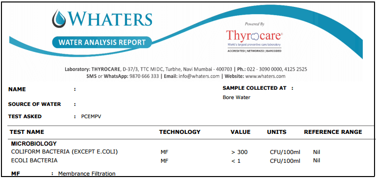 water quality lab report